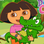 game Baby Dora Care Baby Crocodile
