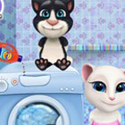 game Baby Tom and Angela Washing Toys
