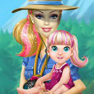 game Barbie Family Going To Camping