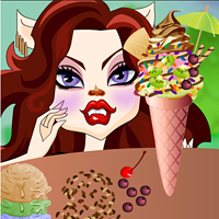 game Clawdeen's Ice Cream Decor