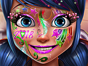 game Dotted Girl New Year Makeup