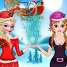 game Elsa And Anna Helping Santa