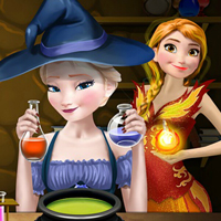 game Elsa And Anna Superpower Potions