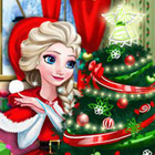 game Elsa Christmas Home
