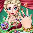 game Elsa Christmas Manicure