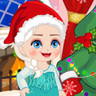 game Elsa Christmas Slacking