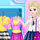 game Elsa College Dress Up