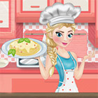game Elsa Cooking Spaghetti