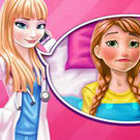 game Elsa Doctor Taking Care Of Anna