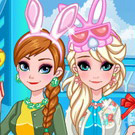 game Frozen Sisters Easter Fun