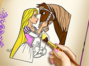 game Goldie Princess Coloring Book