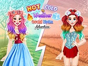 game Hot vs Cold Weather Social Media Adventure