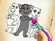game Kitty Coloring Book