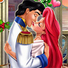 game Mermaid Princess Mistletoe Kiss