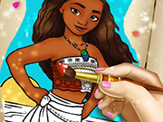 game Polynesian Princess Coloring Book