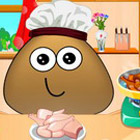 game Pou Cooking Lesson
