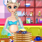 game Pregnant Elsa Cooking Pancakes