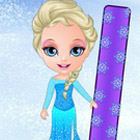 game Princess Elsa Snowboarding