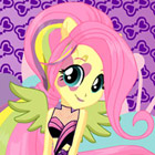 game Rainbow Rocks Fluttershy Dress Up