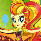 game Rainbow Rocks Sunset Shimmer Rainbooms Style
