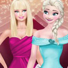 game Super Models Elsa And Barbie