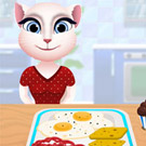 game Talking Angela Cooking Breakfast