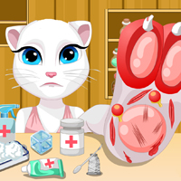 game Talking Angela Foot Injury