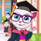 game Talking Angela Graduation Makeover