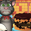 game Talking Tom Cooking Halloween Cake